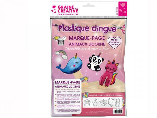 Acheter Kit plastique dingue marque pages animaux licorne - 6,49€ en ligne sur La Petite Epicerie - Loisirs créatifs