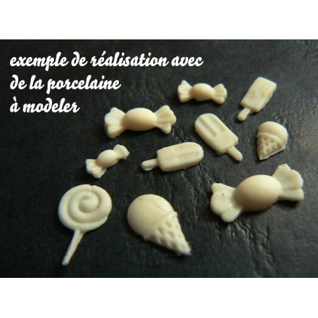 Mould with lollipops and sweets