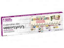 Acheter Calendrier des anniversaires en bois 40 x 12 cm - 6,29€ en ligne sur La Petite Epicerie - 100% Loisirs créatifs