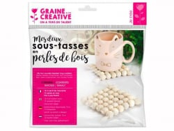 Acheter Kit 2 sous-tasses en perles de bois - 6,79€ en ligne sur La Petite Epicerie - Loisirs créatifs