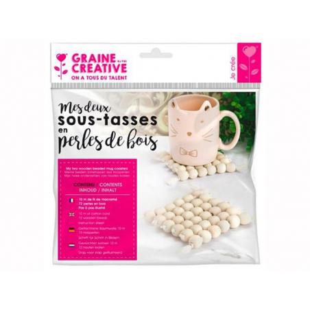 Acheter Kit 2 sous-tasses en perles de bois - 6,79€ en ligne sur La Petite Epicerie - 100% Loisirs créatifs