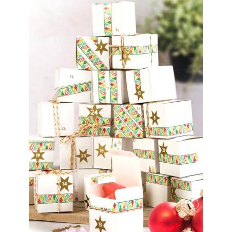 Acheter Kit calendrier de l'avent 24 cubes à décorer - 10,89€ en ligne sur La Petite Epicerie - Loisirs créatifs