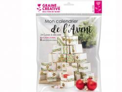 Acheter Kit calendrier de l'avent 24 cubes à décorer - 10,89€ en ligne sur La Petite Epicerie - 100% Loisirs créatifs