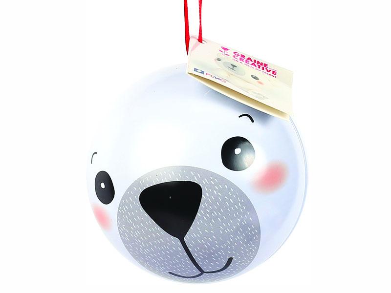 Acheter Boule de Noel métallique + fimo   Ours en ligne