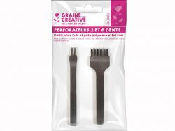 Acheter Perforateurs pour le cuir 2 et 6 dents - 6,69€ en ligne sur La Petite Epicerie - 100% Loisirs créatifs