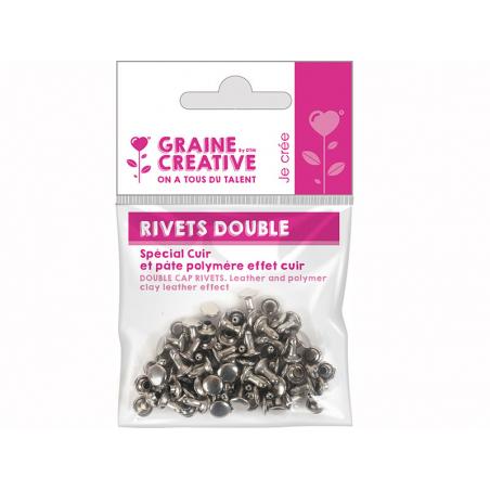 Acheter Sachet de 30 rivets doubles pour le cuir - 0,89€ en ligne sur La Petite Epicerie - Loisirs créatifs
