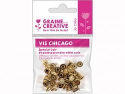 Acheter 20 vis Chicago attaches pour cuir - 1,69€ en ligne sur La Petite Epicerie - 100% Loisirs créatifs
