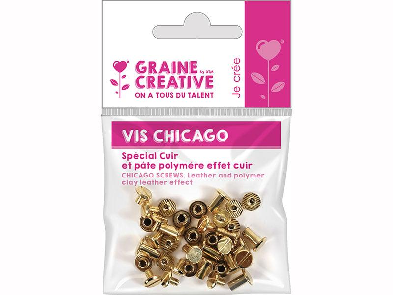 Acheter 20 vis Chicago attaches pour cuir - 1,69€ en ligne sur La Petite Epicerie - Loisirs créatifs