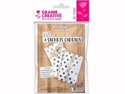 Acheter Mini kit 4 sachets coeurs argent à décorer - 3,99€ en ligne sur La Petite Epicerie - 100% Loisirs créatifs