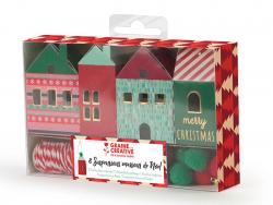 Acheter Kit 8 suspensions maisons de Noel - 4,99€ en ligne sur La Petite Epicerie - Loisirs créatifs