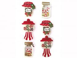 Acheter 6 stickers bonbonnière effet 3D - 4,29€ en ligne sur La Petite Epicerie - 100% Loisirs créatifs