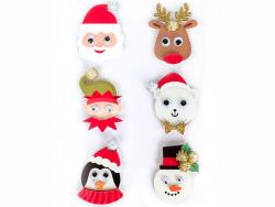 Acheter 6 stickers personnages de Noel 3D - 4,29€ en ligne sur La Petite Epicerie - 100% Loisirs créatifs