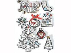Acheter 8 stickers hiver blanc effet 3D - 4,29€ en ligne sur La Petite Epicerie - 100% Loisirs créatifs