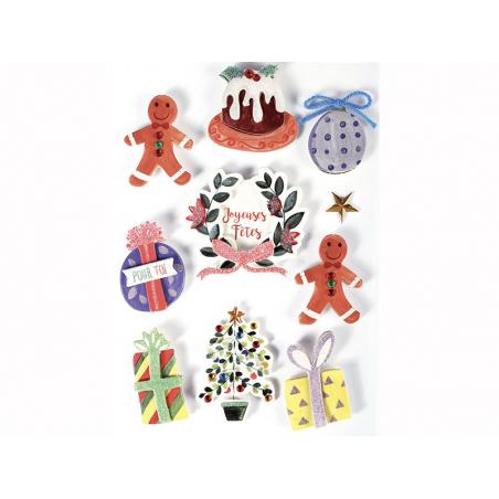 Acheter 10 stickers décoration de Noel 3D - 4,29€ en ligne sur La Petite Epicerie - 100% Loisirs créatifs