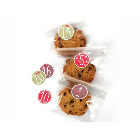 Acheter 24 sachets avec stickers de l'avent 12 x 18 cm - 2,99€ en ligne sur La Petite Epicerie - Loisirs créatifs