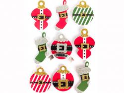 Acheter 9 stickers boules de Noel 3D - 4,29€ en ligne sur La Petite Epicerie - Loisirs créatifs