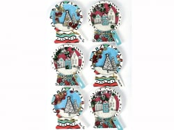 Acheter 6 stickers boule de neige effet 3D - 4,29€ en ligne sur La Petite Epicerie - 100% Loisirs créatifs