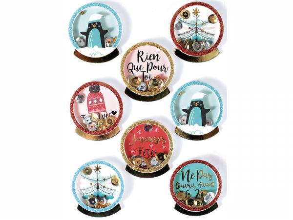 Acheter 8 stickers boule de Noel et pingouins effet 3D - 4,29€ en ligne sur La Petite Epicerie - 100% Loisirs créatifs