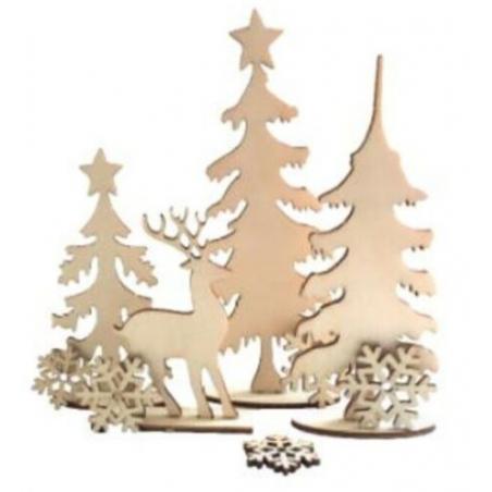 Acheter Planche décor forêt de Noel à monter - 2,99€ en ligne sur La Petite Epicerie - Loisirs créatifs