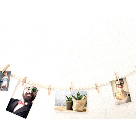 Acheter Guirlande en perles de bois Porte photos - 7,19€ en ligne sur La Petite Epicerie - Loisirs créatifs