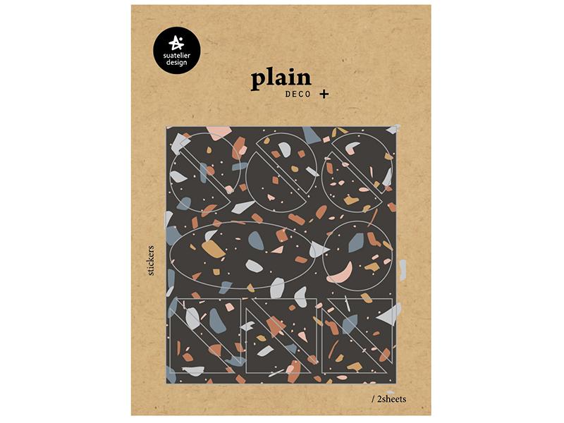 Acheter 28 stickers formes géométriques et graphiques motifs couleurs foncés - 1,59€ en ligne sur La Petite Epicerie - Loisi...