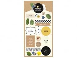 Acheter Stickers fleurs et messages positifs - 3,09€ en ligne sur La Petite Epicerie - Loisirs créatifs