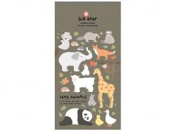 Acheter Stickers animaux de la jungle et de la forêt - 2,49€ en ligne sur La Petite Epicerie - Loisirs créatifs