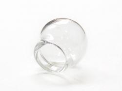 1 bulle en verre 20 mm - ouverture 12 mm