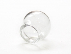 1 Glaskugel - 20 mm - 12 mm Öffnung