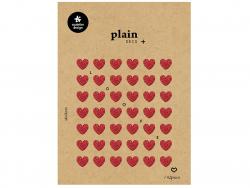 Acheter 42 stickers cœurs rouges paillettés - 1,59€ en ligne sur La Petite Epicerie - Loisirs créatifs