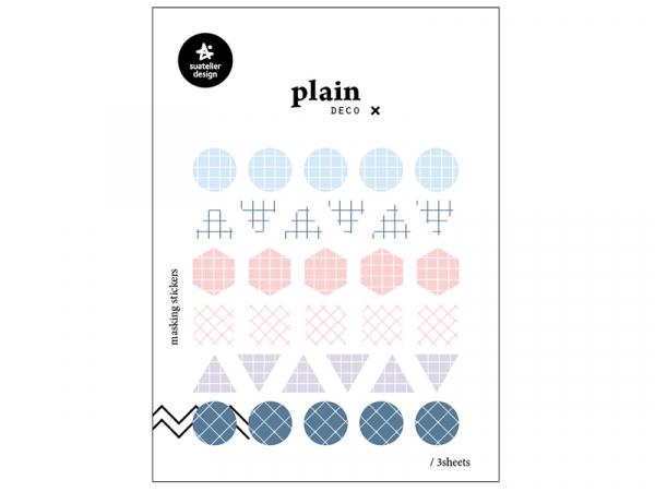 Acheter 3 feuilles stickers formes géométriques et motifs couleurs clairs - 1,59€ en ligne sur La Petite Epicerie - Loisirs ...