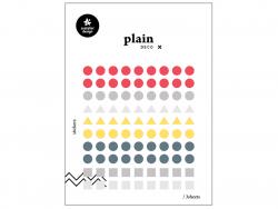 Acheter 3 feuilles stickers formes géométriques - 1,59€ en ligne sur La Petite Epicerie - Loisirs créatifs