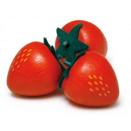 Acheter Fraise - jouet fruit en bois pour dinette - 1,50€ en ligne sur La Petite Epicerie - Loisirs créatifs