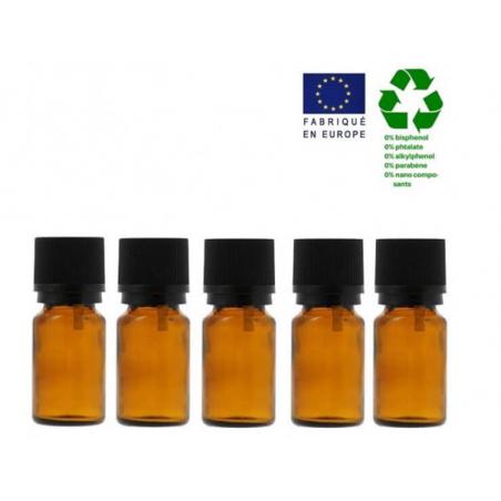 Acheter Lot de 5 flacons 5 ml en verre avec codigoutte - 3,29€ en ligne sur La Petite Epicerie - Loisirs créatifs