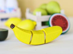 Acheter Banane en bois à découper pour dinette - 4,99€ en ligne sur La Petite Epicerie - 100% Loisirs créatifs