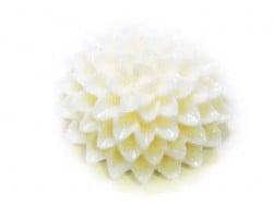 1 Cabochon fleur - crème