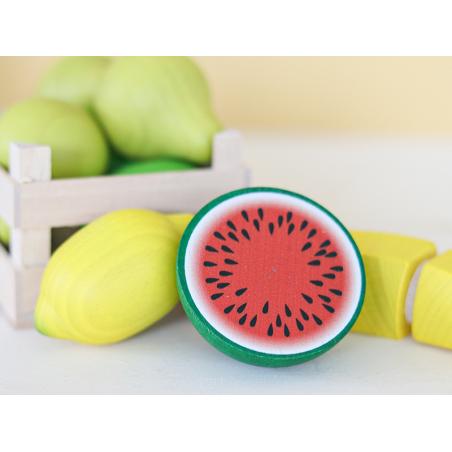 Acheter Demi pastèque - jouet fruit en bois pour dinette - 3,99€ en ligne sur La Petite Epicerie - 100% Loisirs créatifs