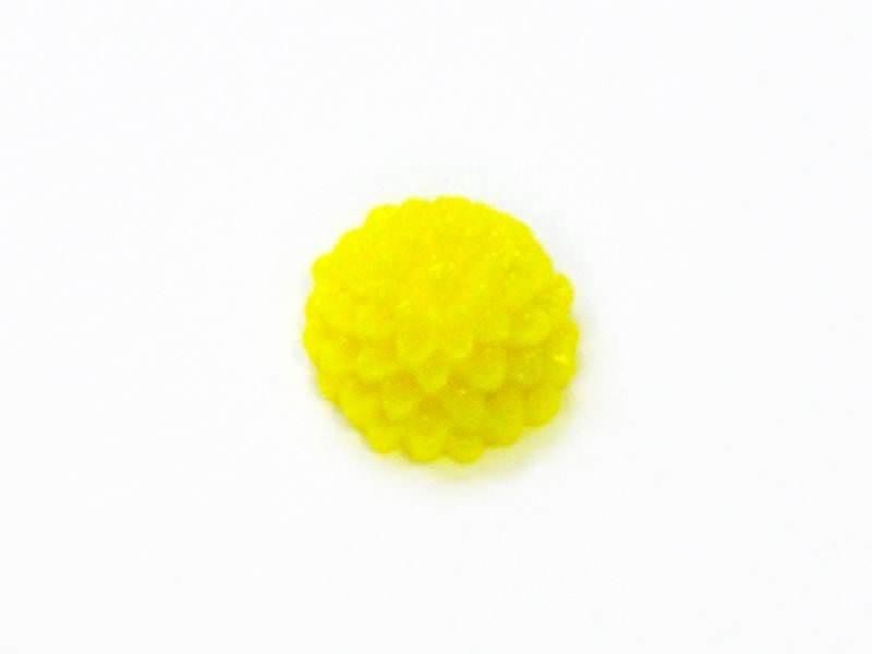 1 Mini cabochon fleur - jaune