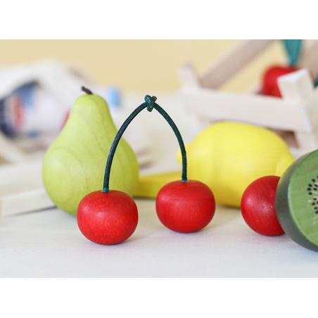 Acheter Paire de cerise - jouet fruit en bois pour dinette - 1,99€ en ligne sur La Petite Epicerie - Loisirs créatifs