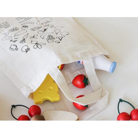 Acheter Petit tote bag / sac en coton pour jouer à la marchande - 1,99€ en ligne sur La Petite Epicerie - 100% Loisirs créatifs