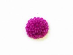 1 Mini cabochon fleur - violet