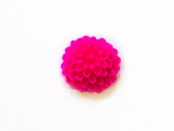 1 mini flower cabochon - fuchsia