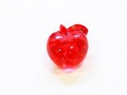 1 perle pomme rouge translucide