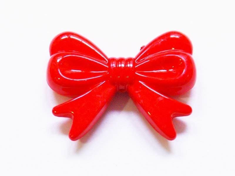 1 grand noeud en acrylique - rouge  - 1