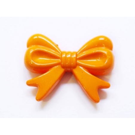 1 big acrylic bow - Orange