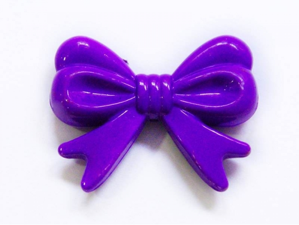 1 big acrylic bow - Purple