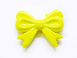 1 big acrylic bow - Yellow