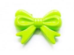 1 grand noeud en acrylique - vert pomme  - 1