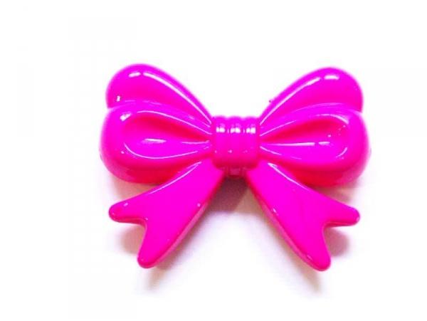 1 big acrylic bow - Fuchsia pink