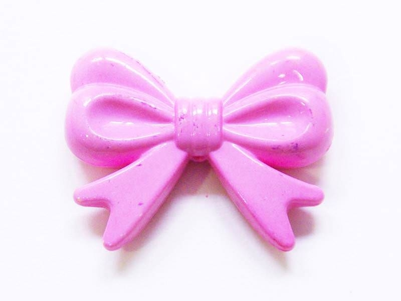 1 big acrylic bow - Pale pink